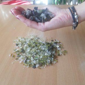 Sticlă mărunțită – granulație = 12 mm